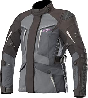 Stella Yaguara Women's Drystar Waterproof All-Weather Motorcycle Jacket for Tech-Air Street Airbag System (Small, Black Dark Gray Mid Gray)