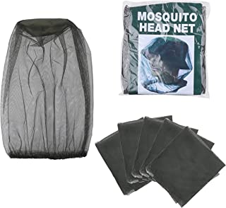 Kare & Kind 5-Pack Head Net Mesh - Mosquito Net - Protects Face, Head, Neck from Bugs, Flies, Insects, Bees - Outdoor, Cam...
