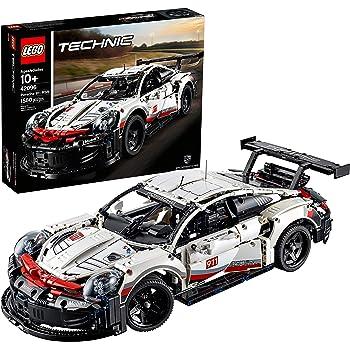 LEGO Technic Porsche 911 RSR 42096 Race Car Building Set STEM Toy for Boys and Girls Ages 10+ features Porsche Model Car with Toy Engine (1,580 Pieces)