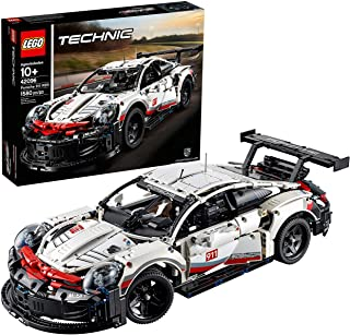 LEGO Technic Porsche 911 RSR 42096 Race Car Building Set STEM Toy for Boys and Girls Ages 10+ features Porsche Model Car w...
