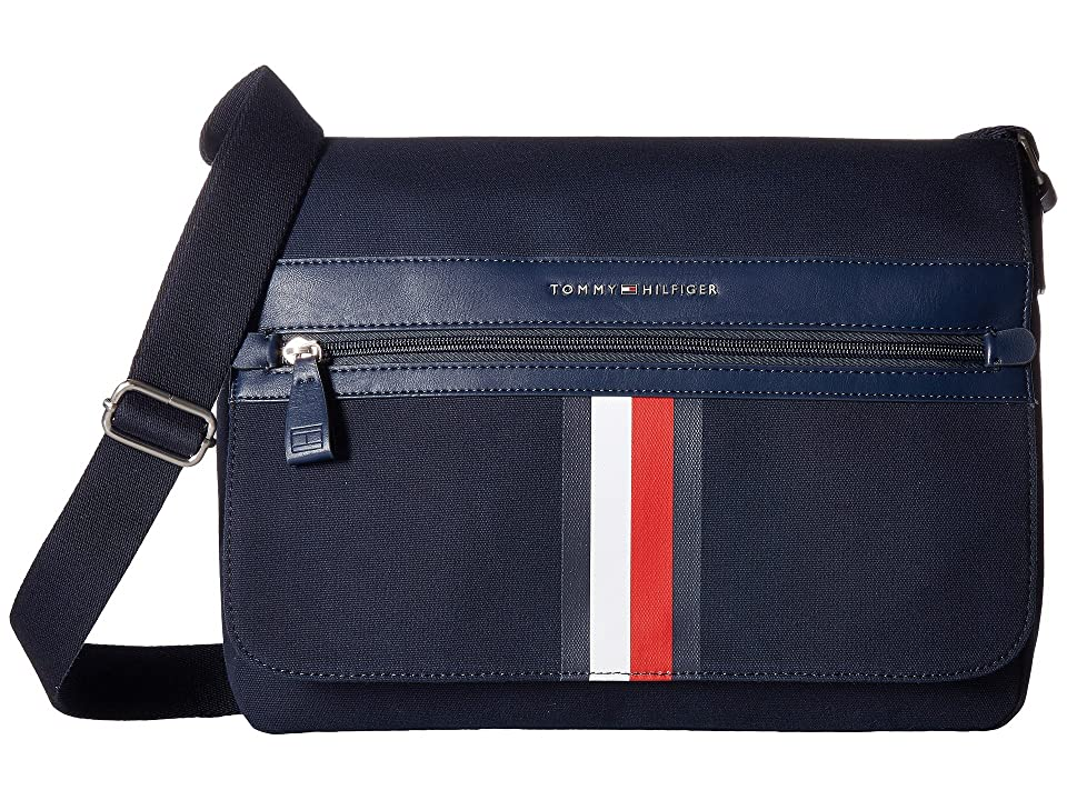 Tommy Hilfiger Icon Messenger Canvas (Tommy Navy) Messenger Bags