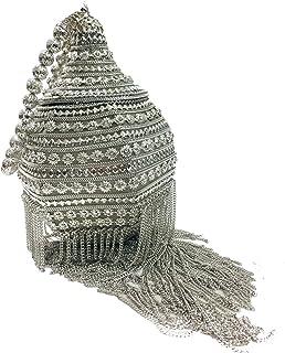 Trend Overseas Indian unique Bridal ethnic Silver bag Handmade hand clutch long metal skirting metal bag metal clutch
