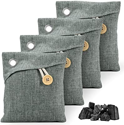 Esky 4 Pack Nature Fresh Air Purifier Charcoal Bags, Activated Charcoal Odor Absorber