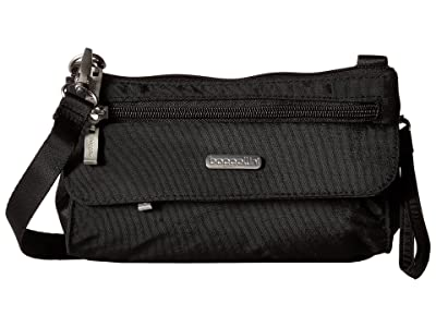 Baggallini Legacy Plaza Mini (Black/Sand) Cross Body Handbags