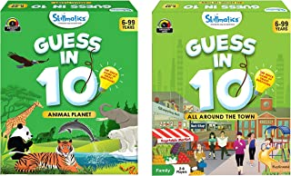 Skillmatics Guess in 10 - Animal Planet + All Around The Town (Ages 6-99) Bundle | Card Game of Smart Questions | General ...