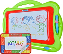 Magnetic Drawing Board Magnadoodle for Kids and Toddlers | Size 13'' x 16'' w/ Large Drawing Area | Colorful Erasable Magic Pad | Magna Doodle Toy for Travel or Home w/ Bonus Magic Mat
