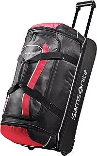 Luggage Andante Drop Bottom Wheeled Duffel 28, Black/Red