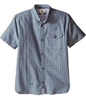 VISSLA Kids - 2X7 Oxford Short Sleeve Woven All Over Print (Big Kids)