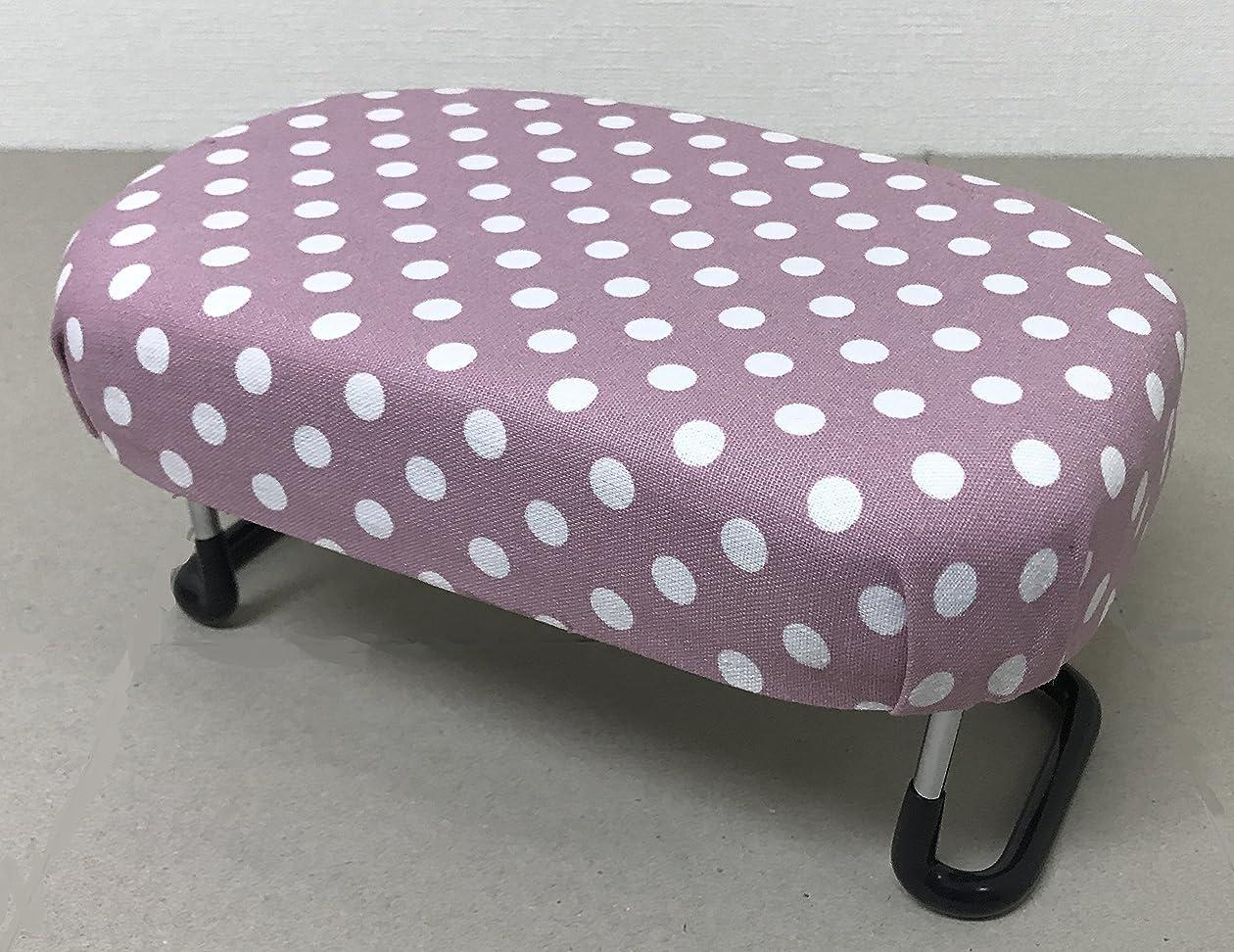 三番ぼろ海軍コンパクト正座椅子 大 折り畳み式(柄) (水玉ピンク)