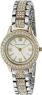 Anne Klein Women's AK/1493MPTT Swarovski Crystal Accented Two-Tone Bracelet Watch