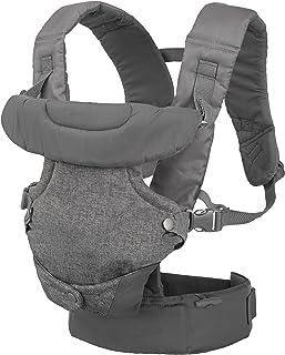 Infantino Flip 高級四合一可轉換嬰兒背帶,淺灰色