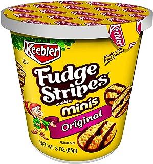 KeeblerFudge Stripes Cookies Minis in a Cup, Original, 3 oz(Pack of 10)