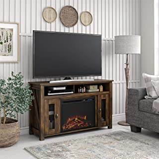 REALROOMS Brocketts Fireplace TV Stand for TVs up to 48