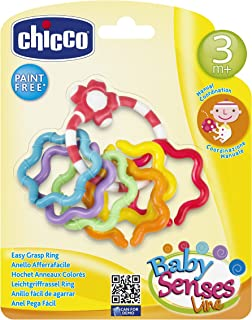 Chicco Baby Senses Line Easy Grasp Ring [Ch5954], Multi Color