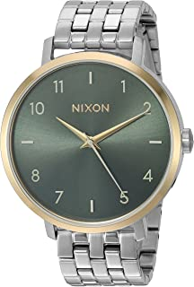 Nixon Women's Arrow Japanese-Quartz Watch with Stainless-Steel Strap, Gold, 17.5 (Model: A10902877)