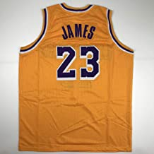 Unsigned LeBron James #23 Los Angeles LA Yellow Custom Stitched Basketball Jersey Size Men's XL New No Brands/Logos
