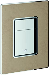 Grohe 38914XP0 Skate Cosmopolitan Toilet Actuation Plate with Smooth Leather Surface, Cashmere Beige