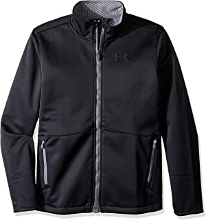 Under Armour Boys' Storm Softershell Jacket,Black (001)/Graphite,Youth Medium