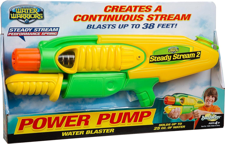 Buzz Bee Toys Water Warriors Steady Stream Water Blaster
