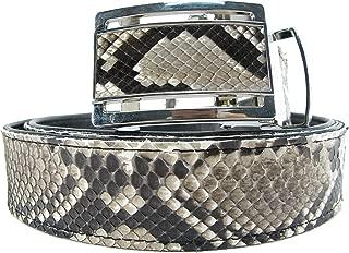 Genuine Python Snake Skin Auto Locking Men's Belt 46