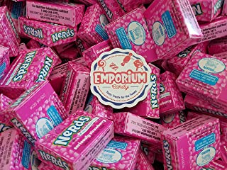 Nerds Candy - Wonka Nerds Mini Boxes Seriously Strawberry 1.5 pounds Bulk Candy with Refrigerator Magnet