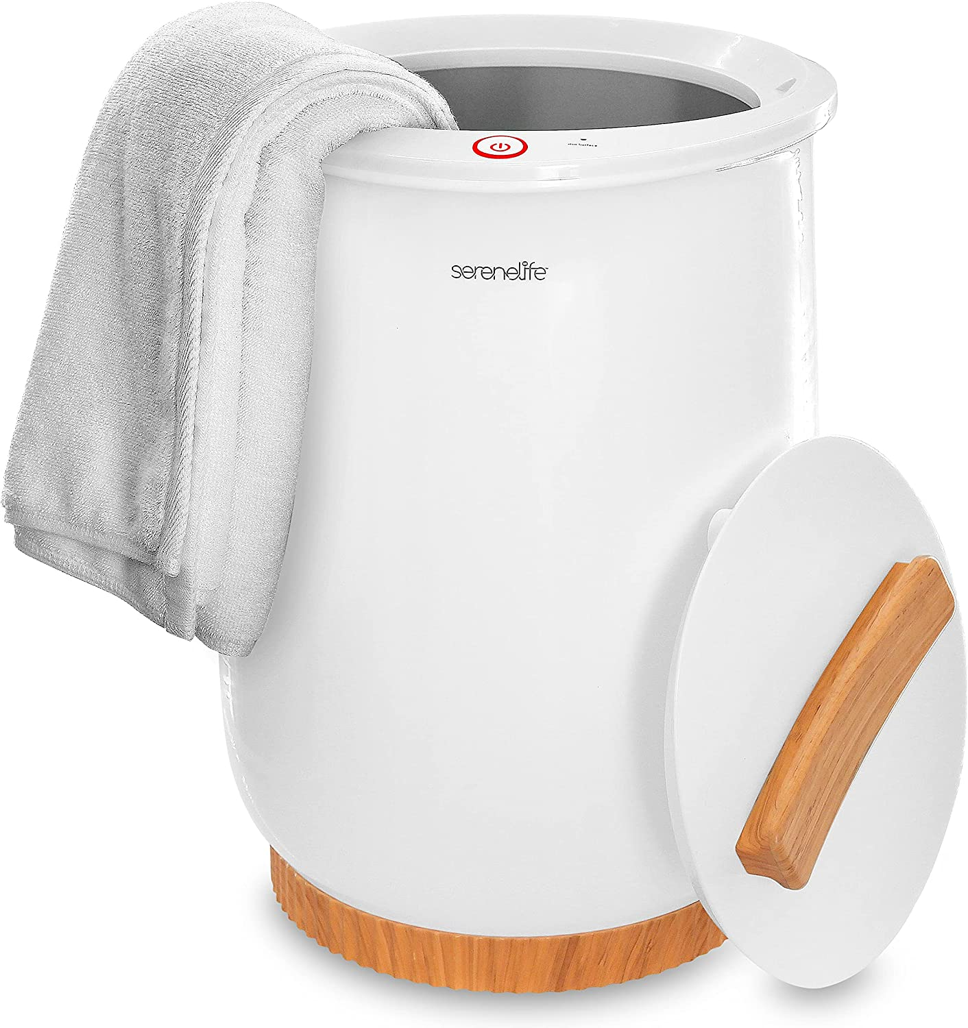 Luxury Towel Warmer Spring new work one after another Bucket Style Large White Port Heater High order -