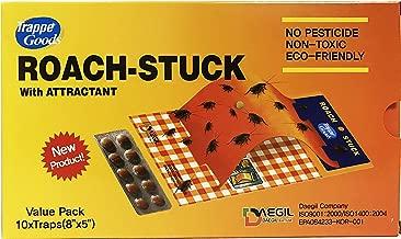 Trappe ROACH-STUCK - Señuelo y trampa para cucarachas - Papel adhesivo desechable, no tóxico - Formato ahorro de 10 unidades