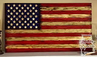 charred wood flag