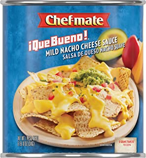 Chef-mate Que Bueno Mild Nacho Cheese Sauce, Queso, 0 Grams Trans Fat, 6 lb 10 oz, #10 Can