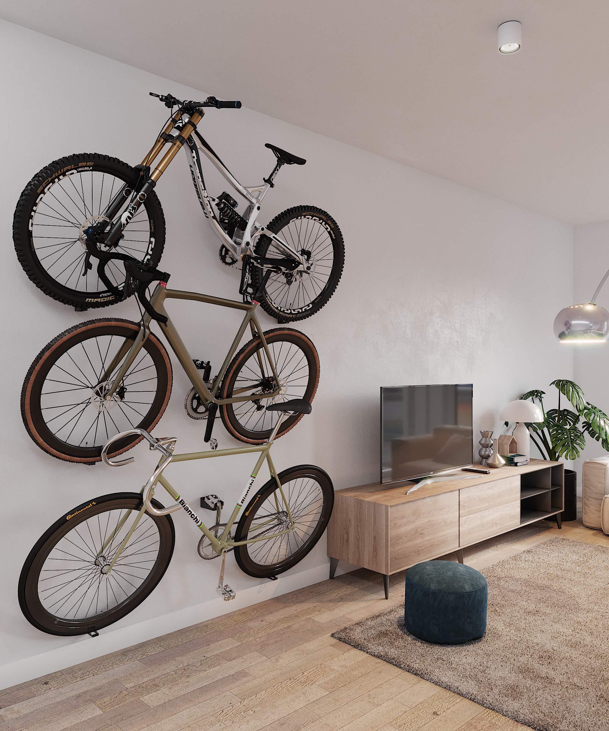 Soporte para colgar la bicicleta en la pared por el pedal. Soporte ...