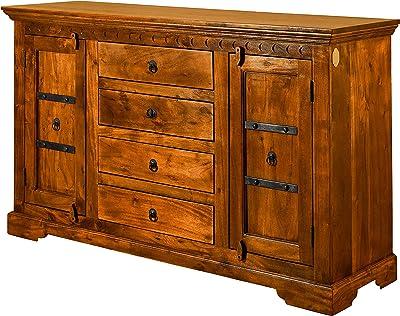 Credenza Con Lettere : Mercer s furniture credenza panama con ante e cassetti legno