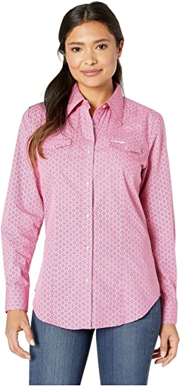Tough Enough To Wear Pink™ Long Sleeve Snap Front Print