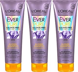 L'Oreal Paris Cosmetics Everpure Blonde Shampoo Sulfate Free, 3 Count