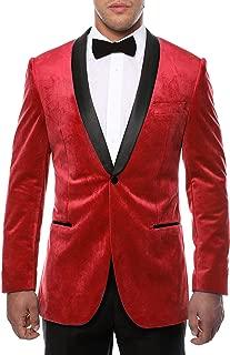 Men's Enzo Velvet Slim Fit Shawl Lapel Tuxedo Blazer