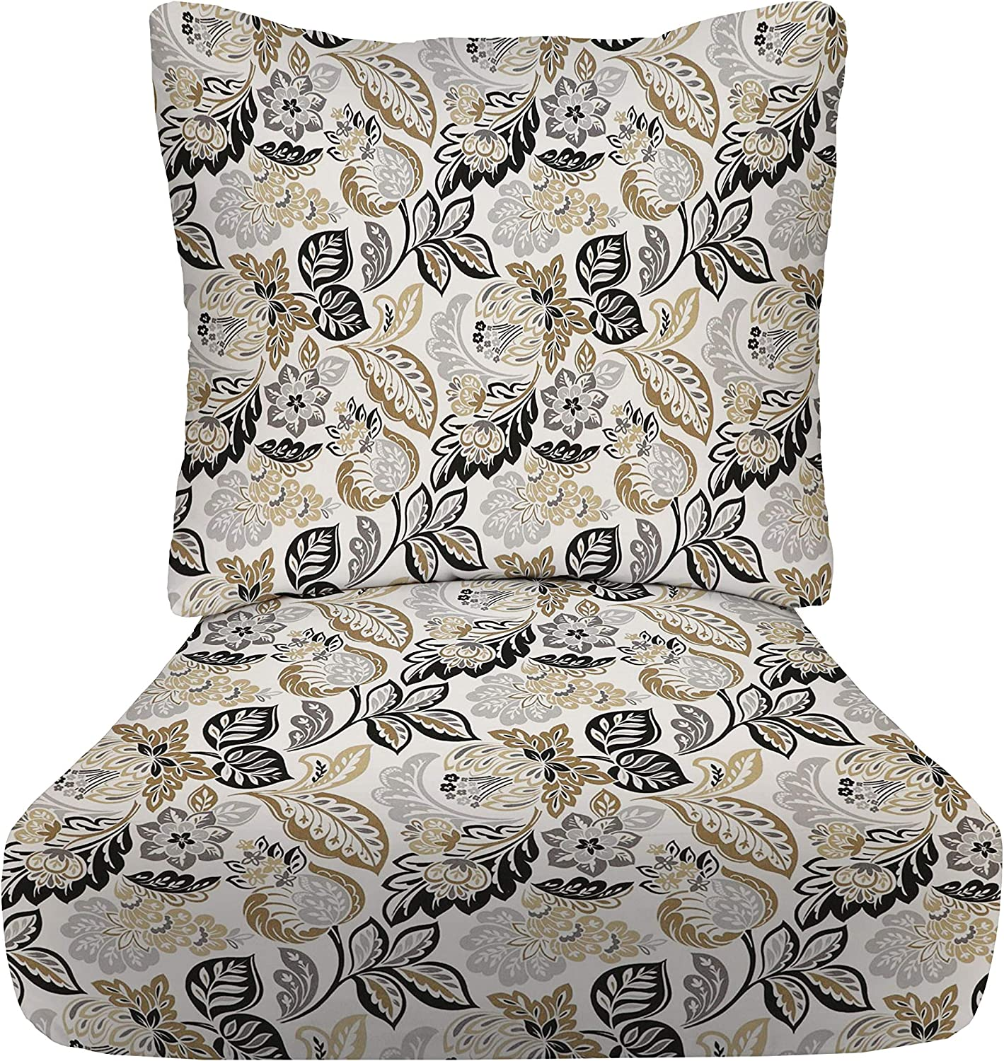 """RSH Décor Indoor Outdoor Deep Seating 24""""x x 24"""" Outlet free ☆ Free Shipping Set 5"""" Cushion"""