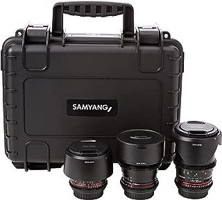 Samyang 2 14/35/85 mm VDSLR Lens Kit for Canon Camera