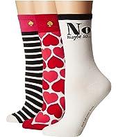 Kate Spade New York - 3-Pack Hearts Crew Socks