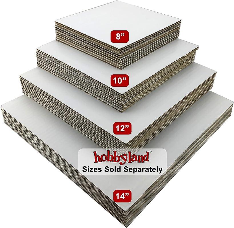 Hobbyland Cake Boards Square White Coated Greaseproof (8