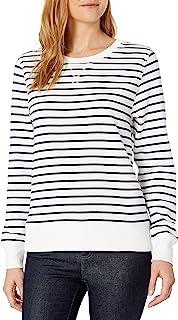 Amazon Essentials Women's French Terry Fleece Crewneck Sweatshirt Sweater