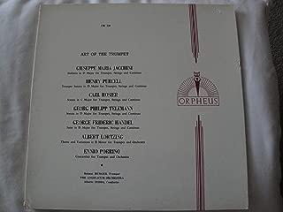 Orpheus OR 338 Art Of The Trumpet Vinyl Lp Giuseppe Maria Jacchini, Henry Purcell, Carl Rosier, Georg Philipp Telemann, George Frideric Handel Ex
