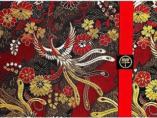京都ちせん 見開き御朱印帳 鳳凰 西陣の金襴 オリジナルバンド付き 約242×180