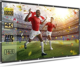 OWLENZ 120 inch Projector Screen for Outdoor Movies 16:9 4K HD Foldable Light Weight Movie Screen for Home Theater Support...