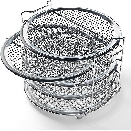 Dehydrator Rack for 6 qt or 8 qt Instant Pot Air Fryer Lid, Instant Pot Vortex 10 qt Air Fryer Oven, Compatible Instant Pot Accessories Air Fryer Dehydrator Rack (7.7 in Dia x 5.7 in H)