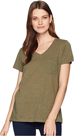V-Neck Pocket Cotton Tee