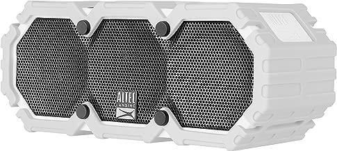 Altec Lansing iMW575 Life Jacket Bluetooth Speaker Waterproof Wireless Bluetooth Speaker, Hands-Free Extended Battery Outdoor Speaker, Ultra-Portable 10ft Range, Grey
