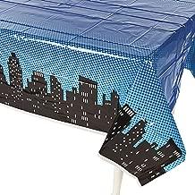 Fun Express Superhero Plastic Table Cover 54