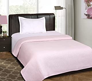 All Season Cotton Thermal Blanket in Waffle Weave -Perfect for Layering Any Bed, Baby PINK-60x90 inch,Light Thermal Blankets,Twin Thermal Blankets,Breathable Blanket,Twin Thermal Blankets