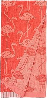 AmazonBasics Oversized Premium Beach Towels - Small Coral Flamingos