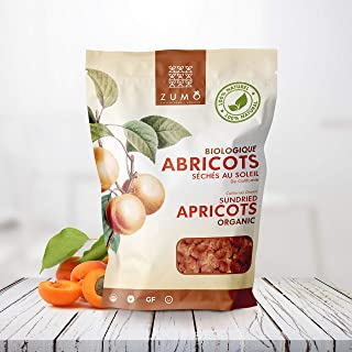 California Sun Dried Organic Apricots - No Sugar Added, Non GMO, Gluten Free, Kosher Certified, Vegan, Value Size (250g.)