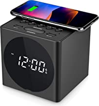SVINZ Digital Dual Alarm Clock with 2-Port 3.1A USB Charing and Large Display, 2 Loud Musical Alarm for Heavy Sleeper, 4 Dimmer, Indoor Temperature for Bedrooms, Nightstand Clock, Battery Backup